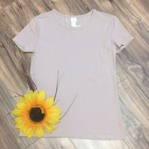 H&M Tan Short Sleeve T-shirt NEW